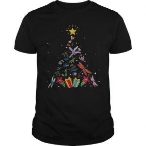 Christmas Tree Dragonfly Xmas Lover Gifts Shirt