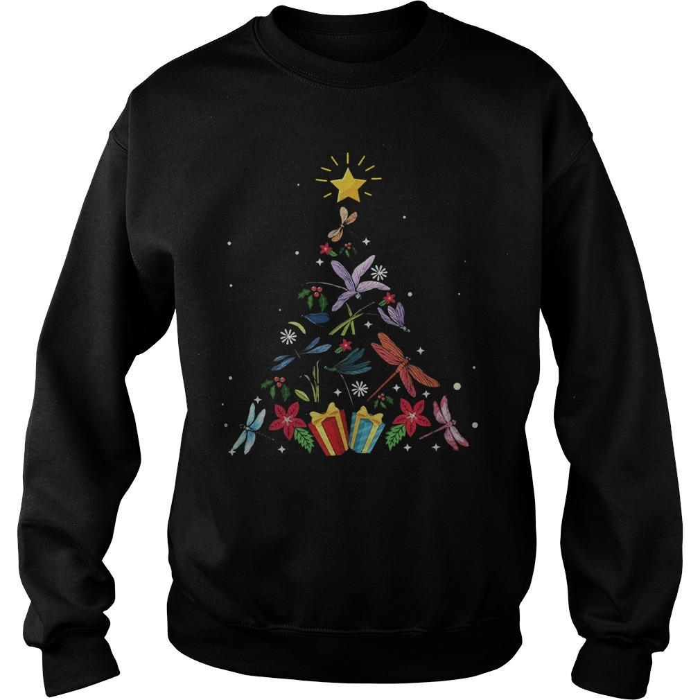 Christmas Tree Dragonfly Xmas Lover Gifts Sweater
