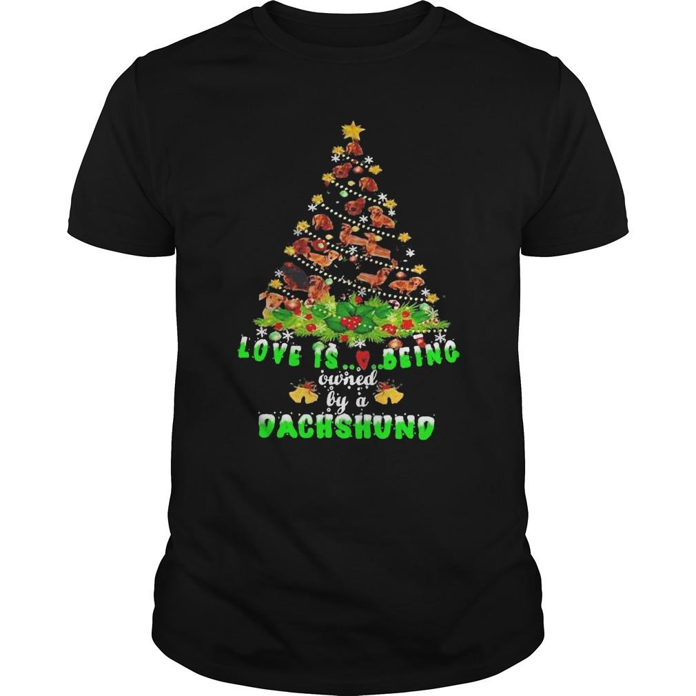 Christmas Tree Love Is Being Owned By A Dachshund Longsleeve