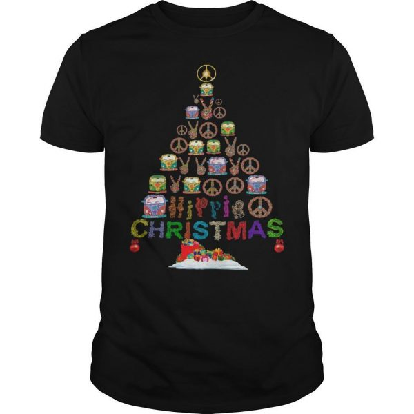 Christmas Tree Peace Bus Hippie Christmas Shirt