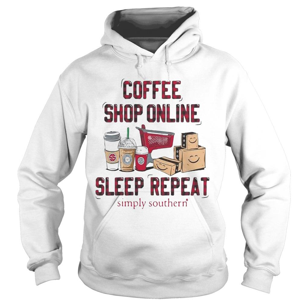 Coffee Shop Online Sleep Repeat Simply Southern Hoodie
