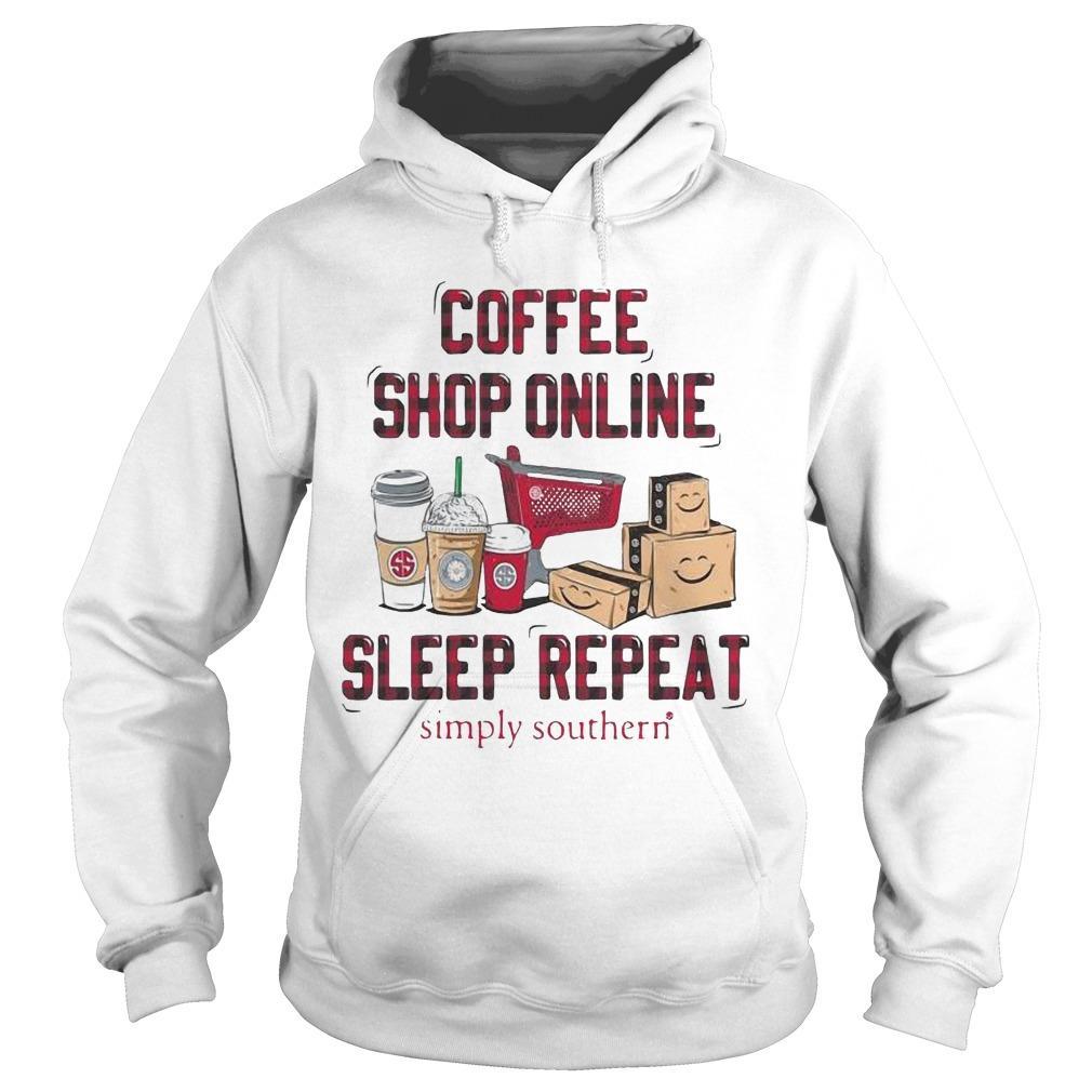 Coffee Shop Online Sleep Repeat Simply Southern Hoodie