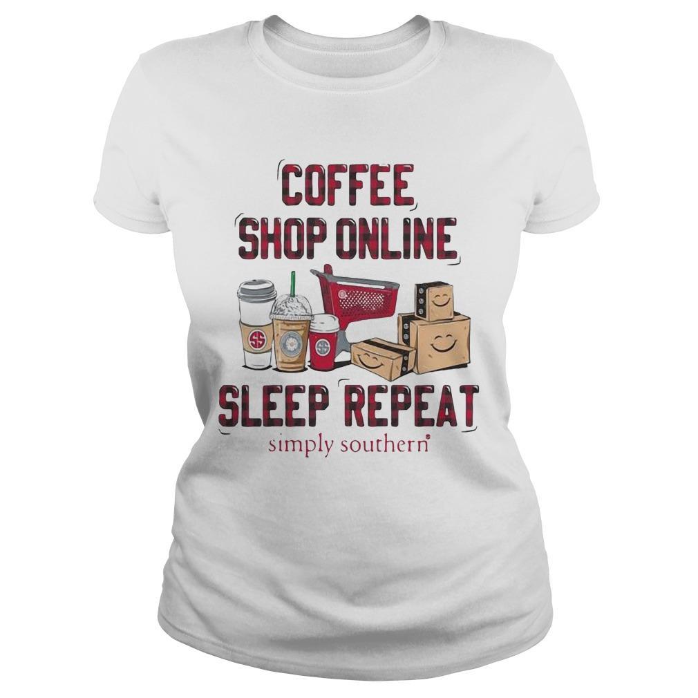 Coffee Shop Online Sleep Repeat Simply Southern Longsleeve
