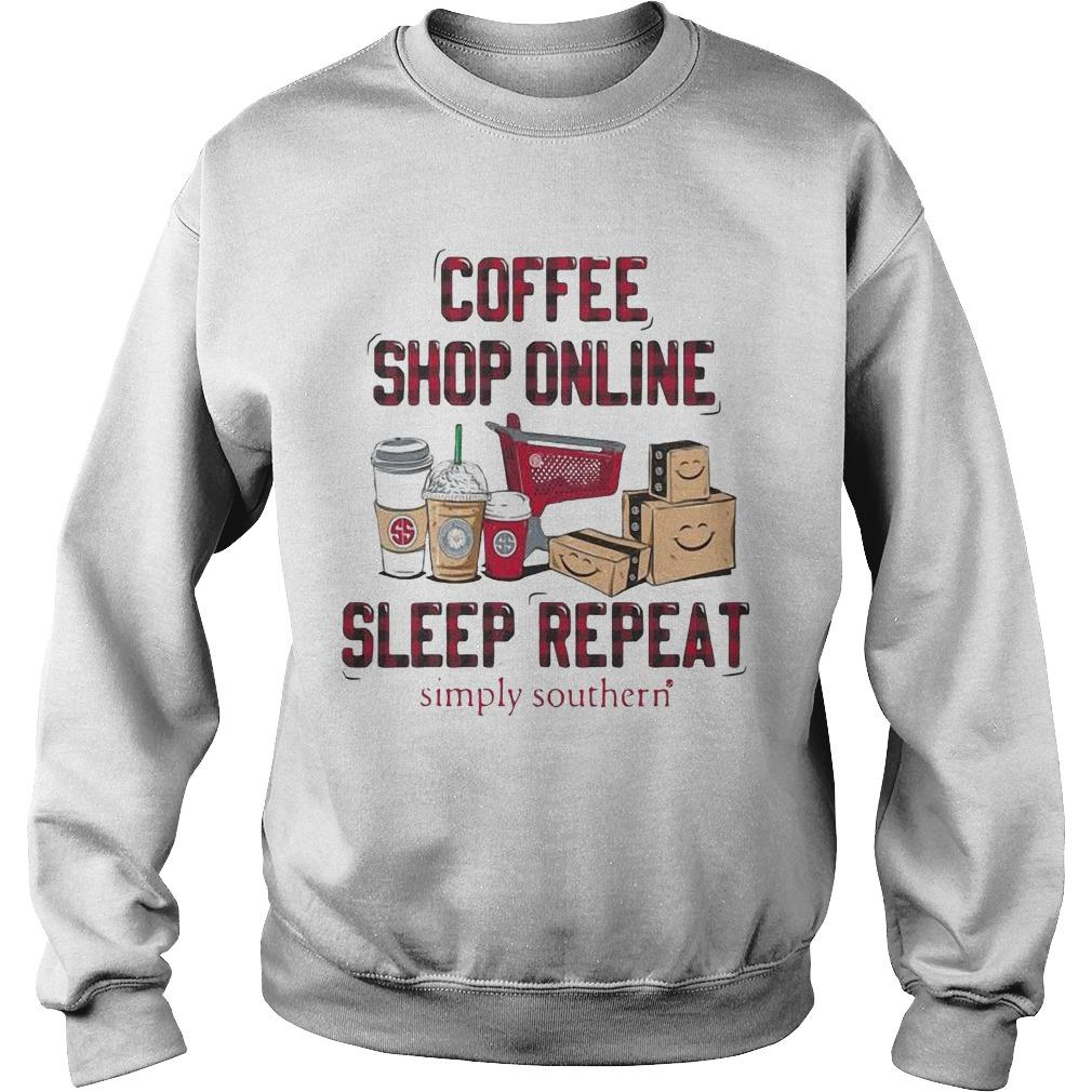 Coffee Shop Online Sleep Repeat Simply Southern Sweater