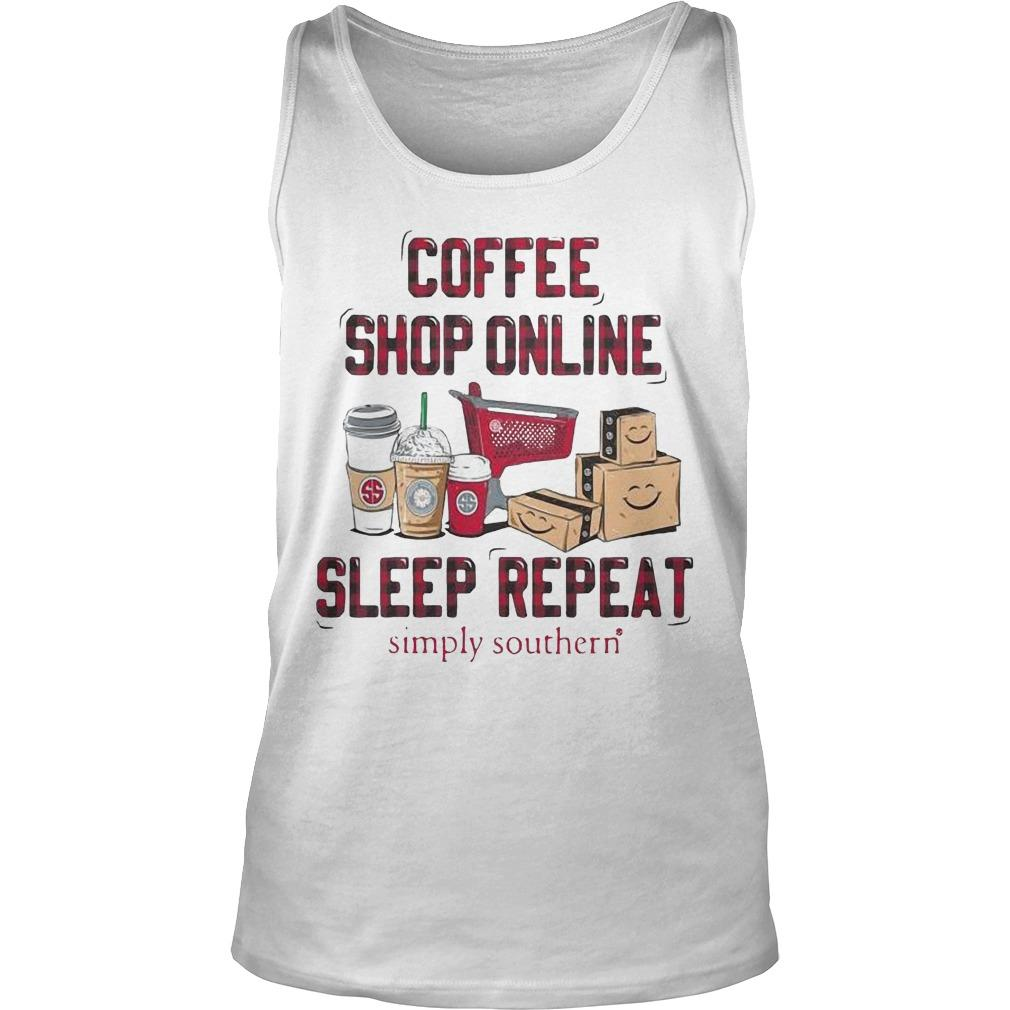 Coffee Shop Online Sleep Repeat Simply Southern Tank Top