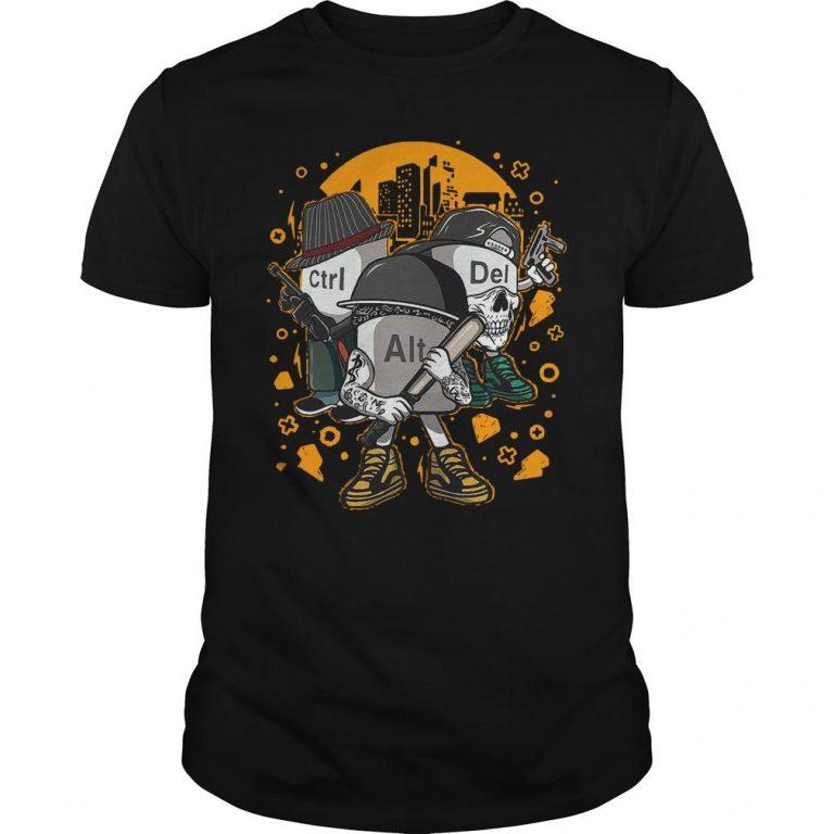 Computer Mafia Ctrl Alt Del Shirt
