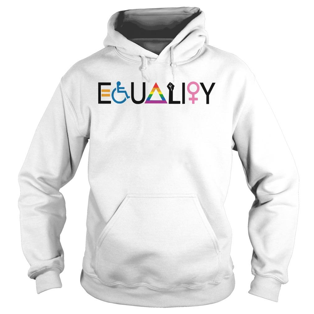 Disability Lgbt Women Equality Symbol Hoodie