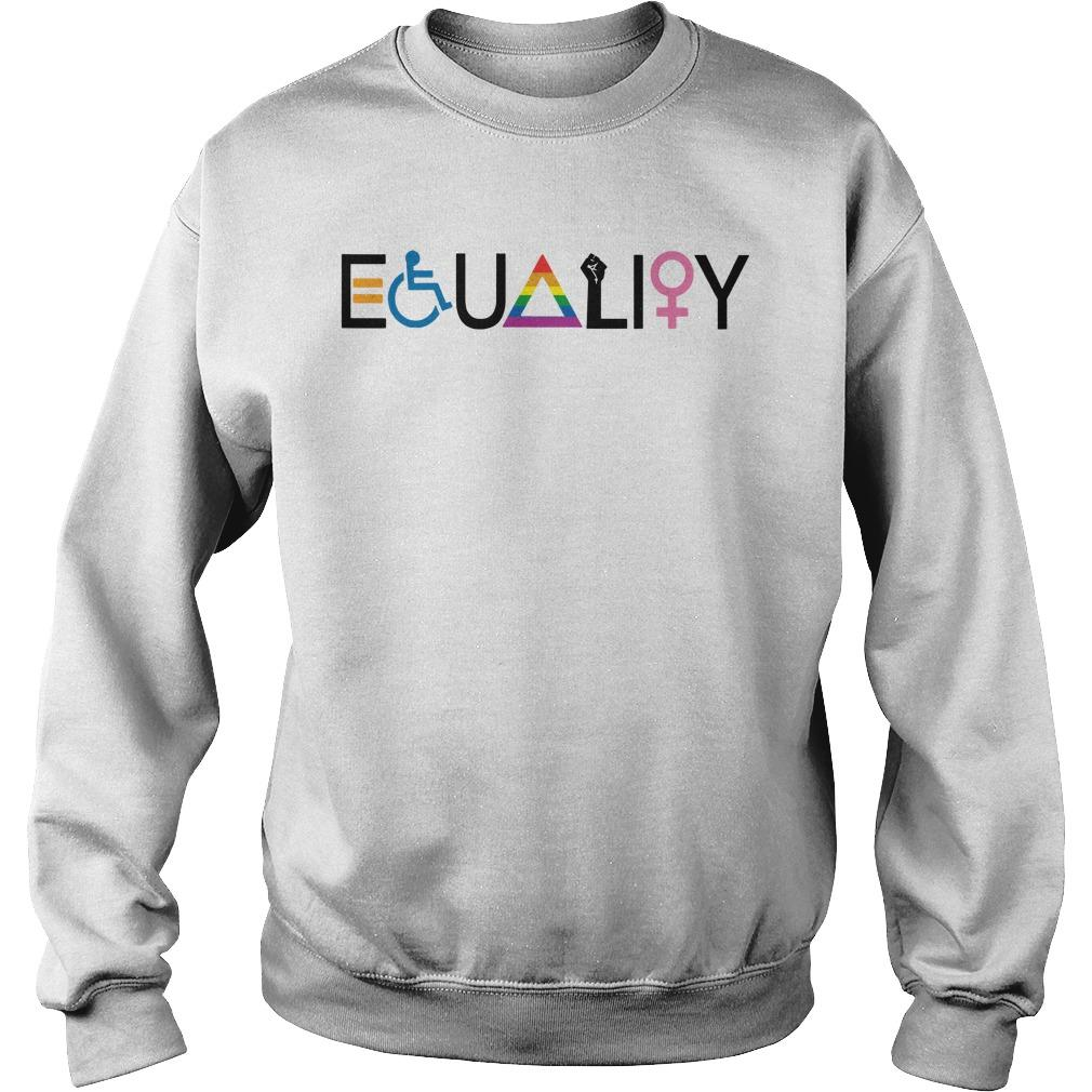 Disability Lgbt Women Equality Symbol Sweater