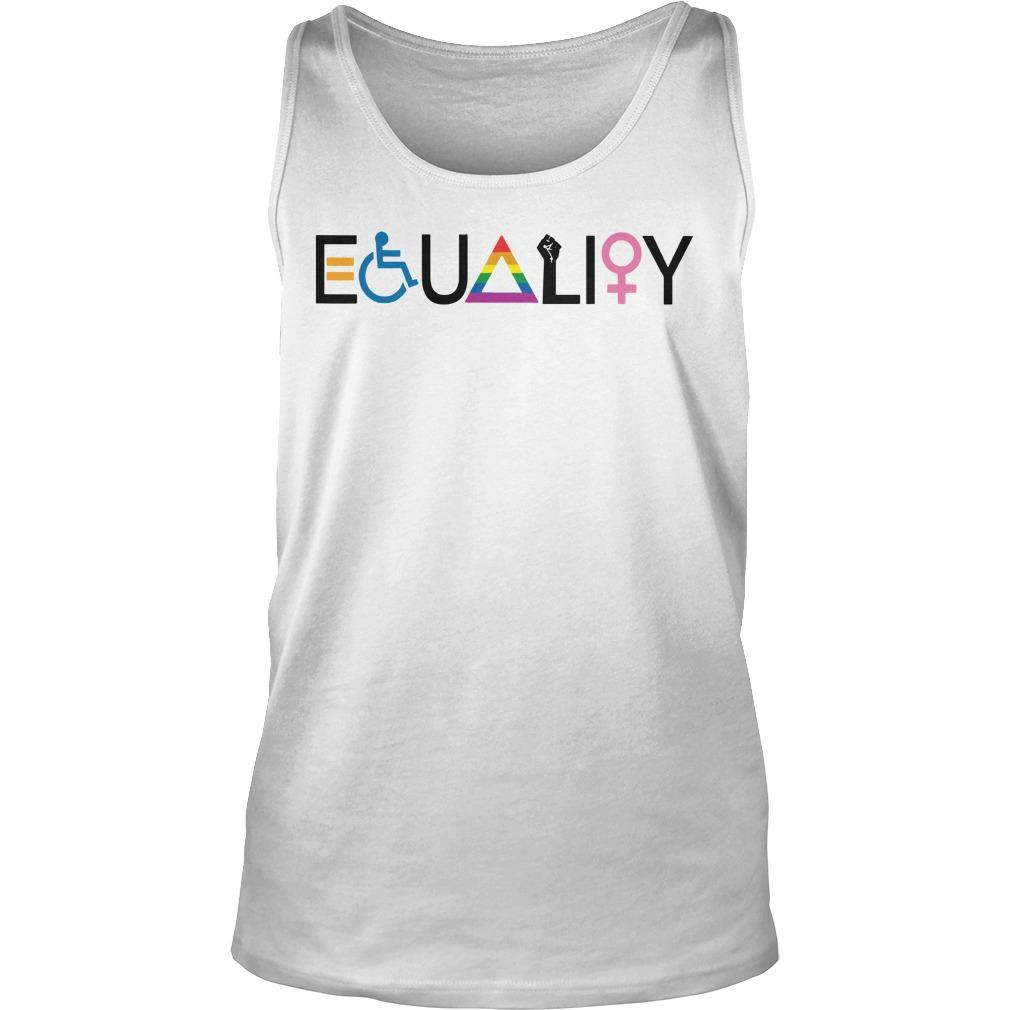 Disability Lgbt Women Equality Symbol Tank Top