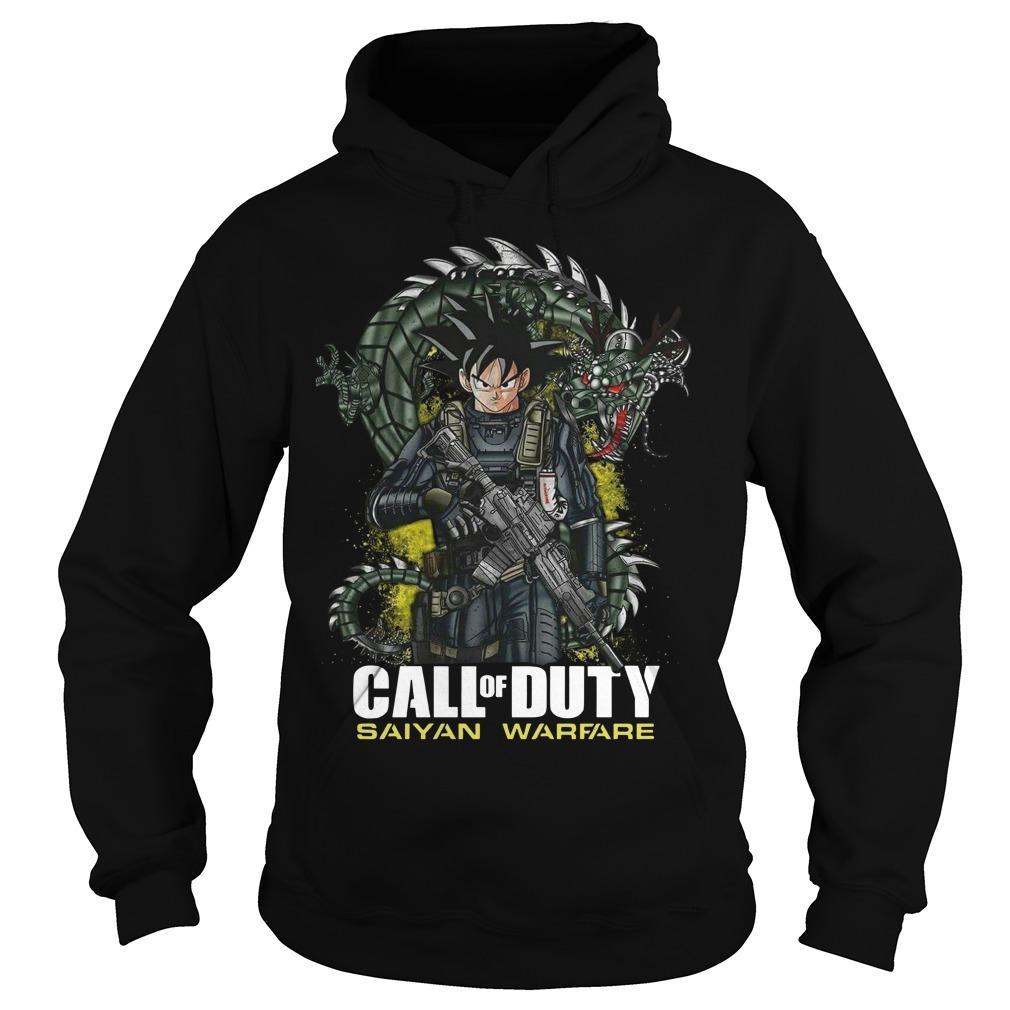 Dragon Ball Call Of Duty Saiyan Warface Hoodie