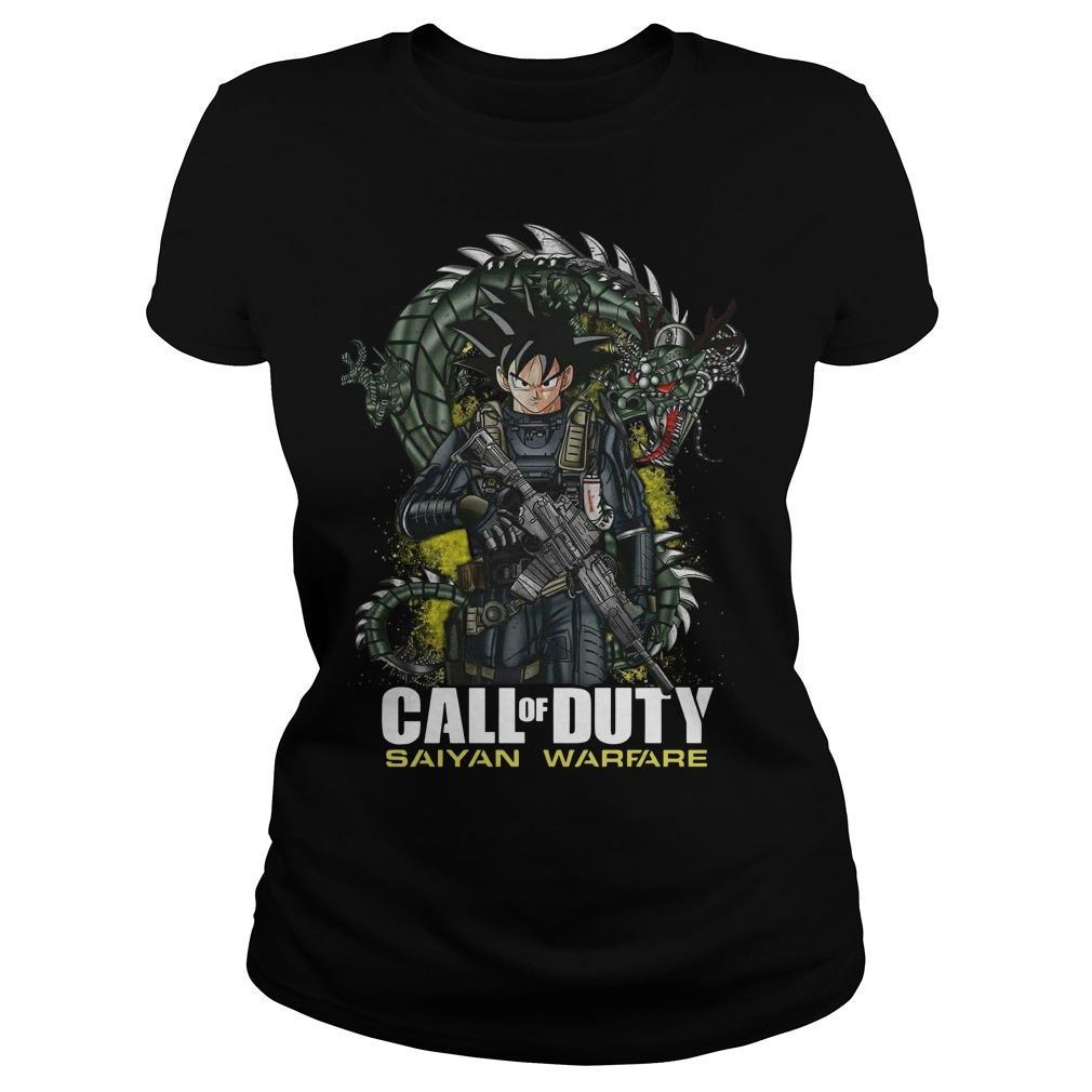 Dragon Ball Call Of Duty Saiyan Warface Longsleeve
