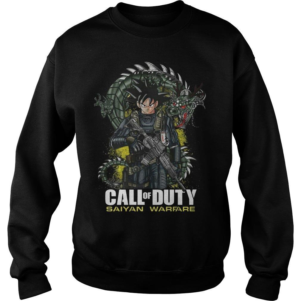 Dragon Ball Call Of Duty Saiyan Warface Sweater