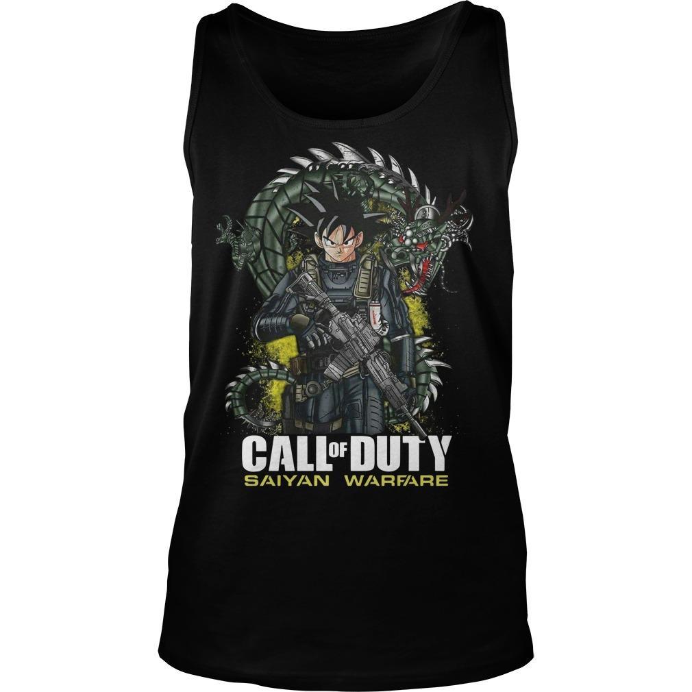 Dragon Ball Call Of Duty Saiyan Warface Tank Top