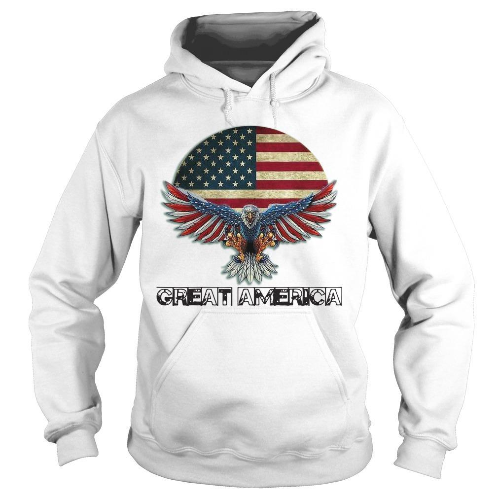 Eagle American Flag Great America Hoodie