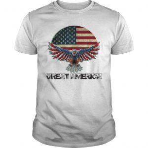Eagle American Flag Great America Shirt