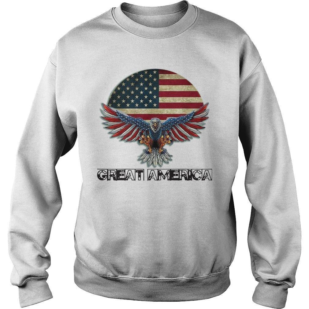 Eagle American Flag Great America Sweater