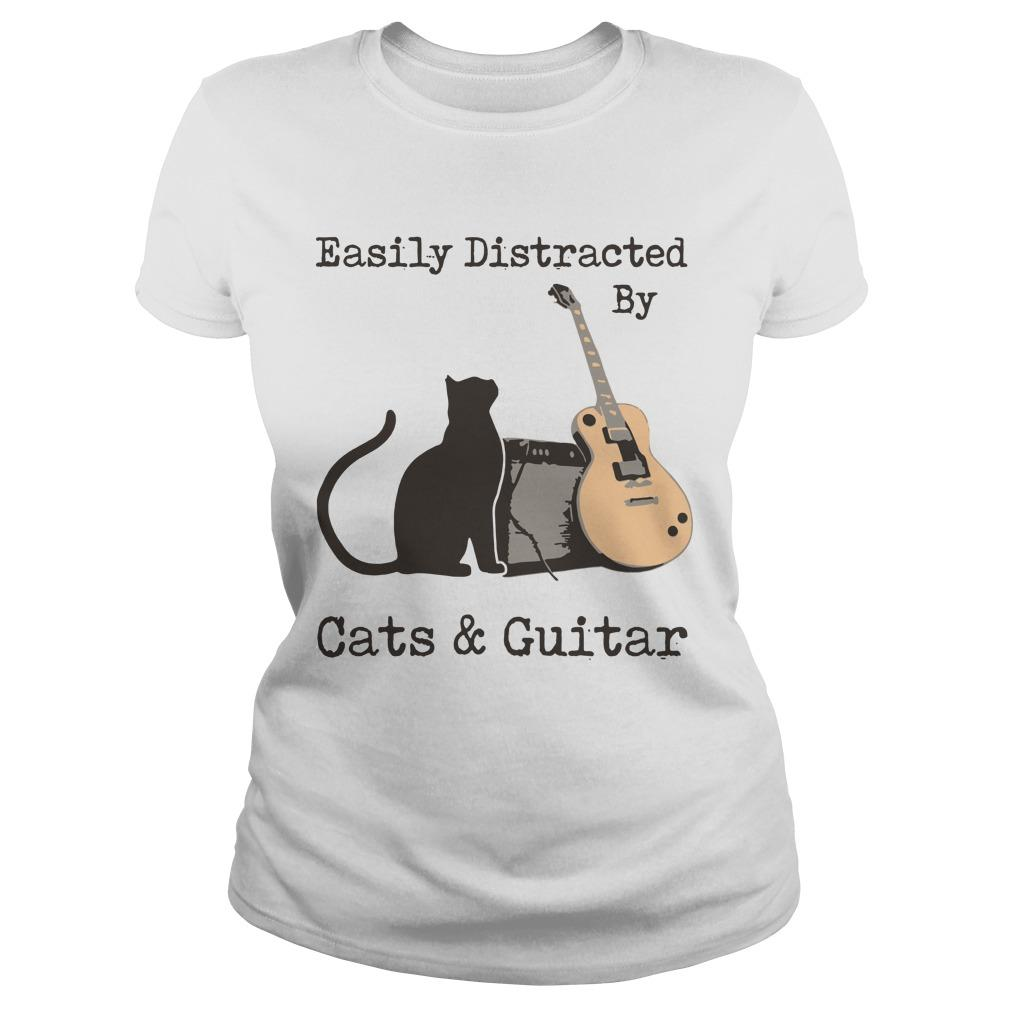Easily Distracted By Cats And Guitar Longsleeve