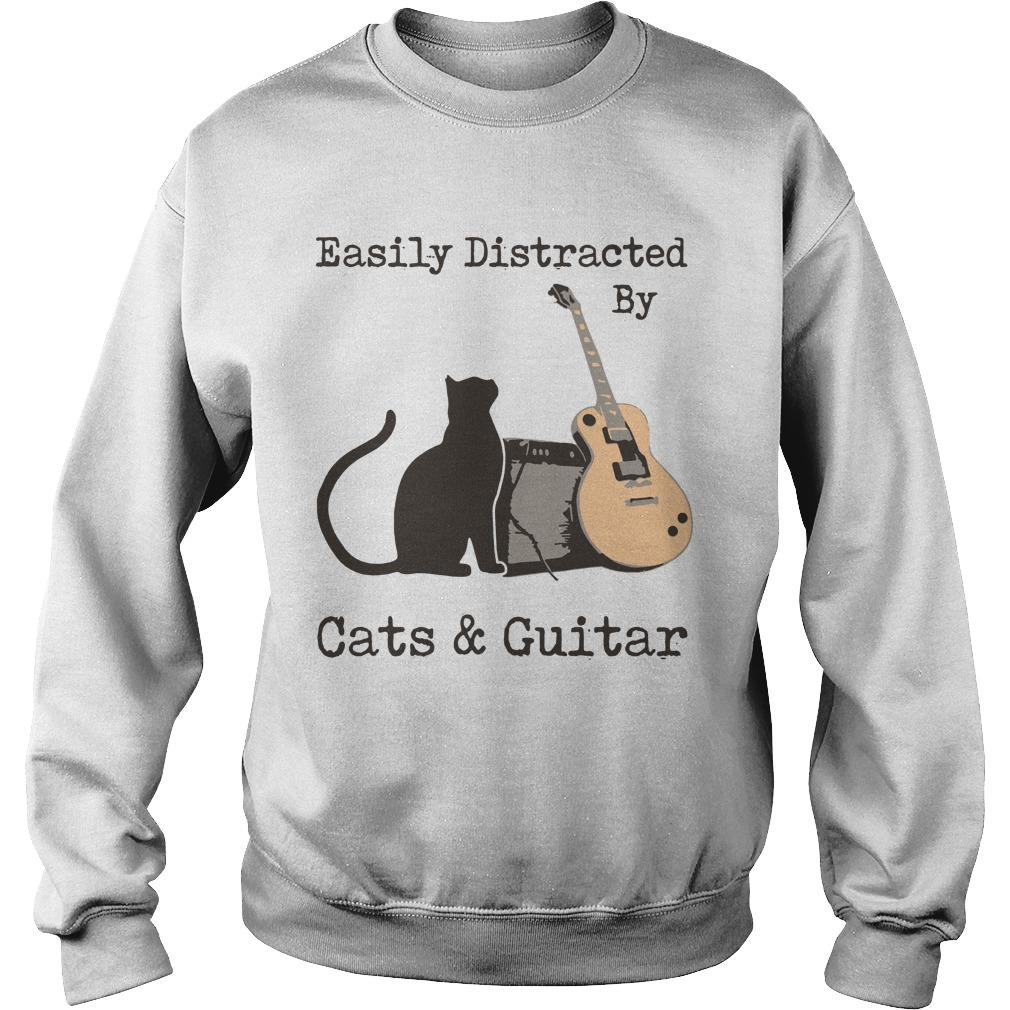 Easily Distracted By Cats And Guitar Sweater