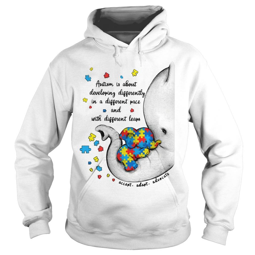 Elephant Autism Is About Developing Differently Hoodie