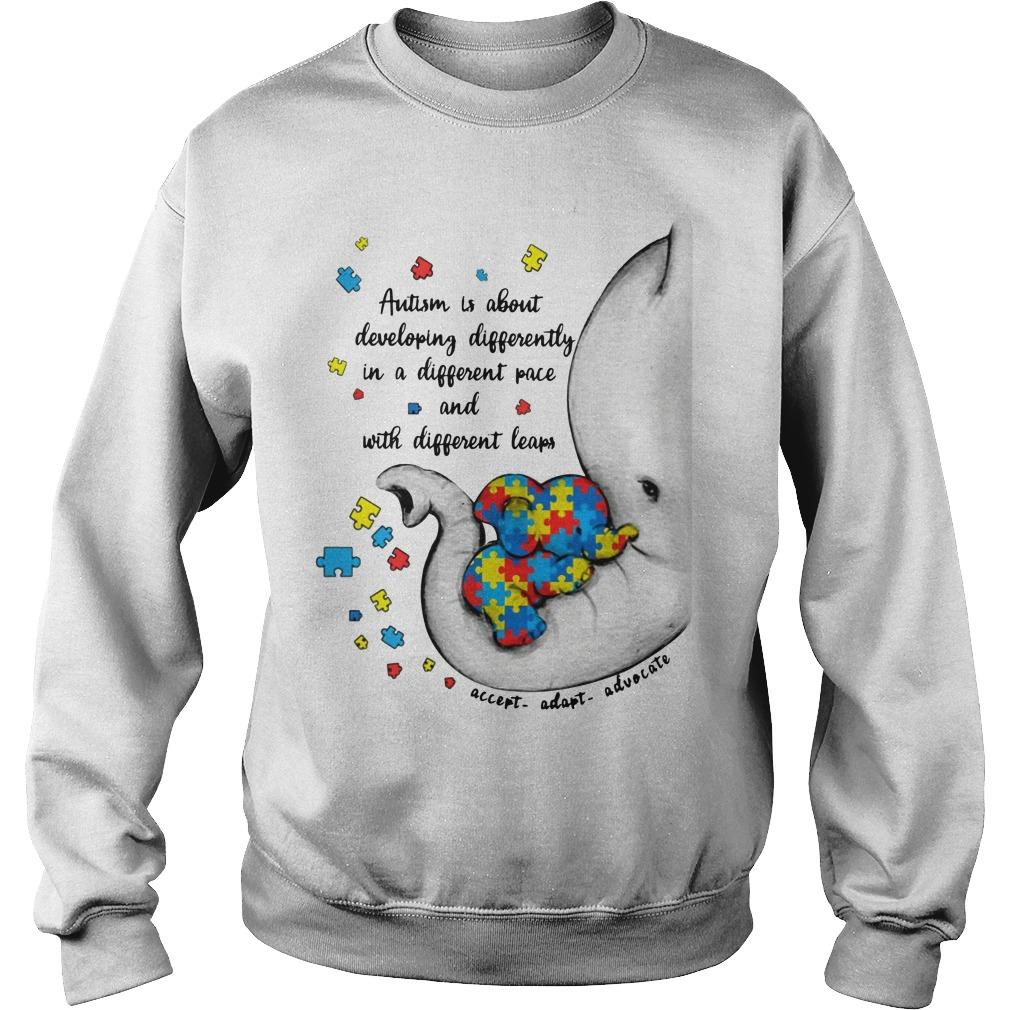 Elephant Autism Is About Developing Differently Sweater