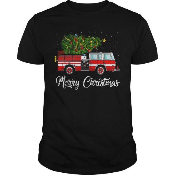Firefighter Merry Christmas Shirt