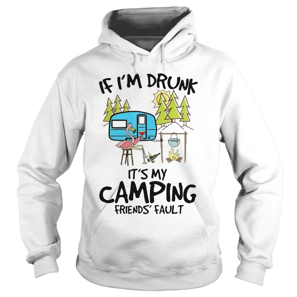 Flamingo If I'm Drunk It's My Camping Friend's Fault Hoodie