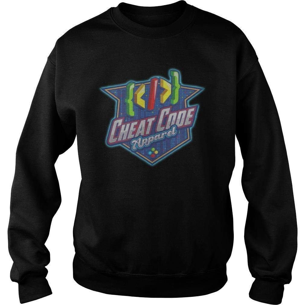 Gamer Cheat Code Apparel Sweater