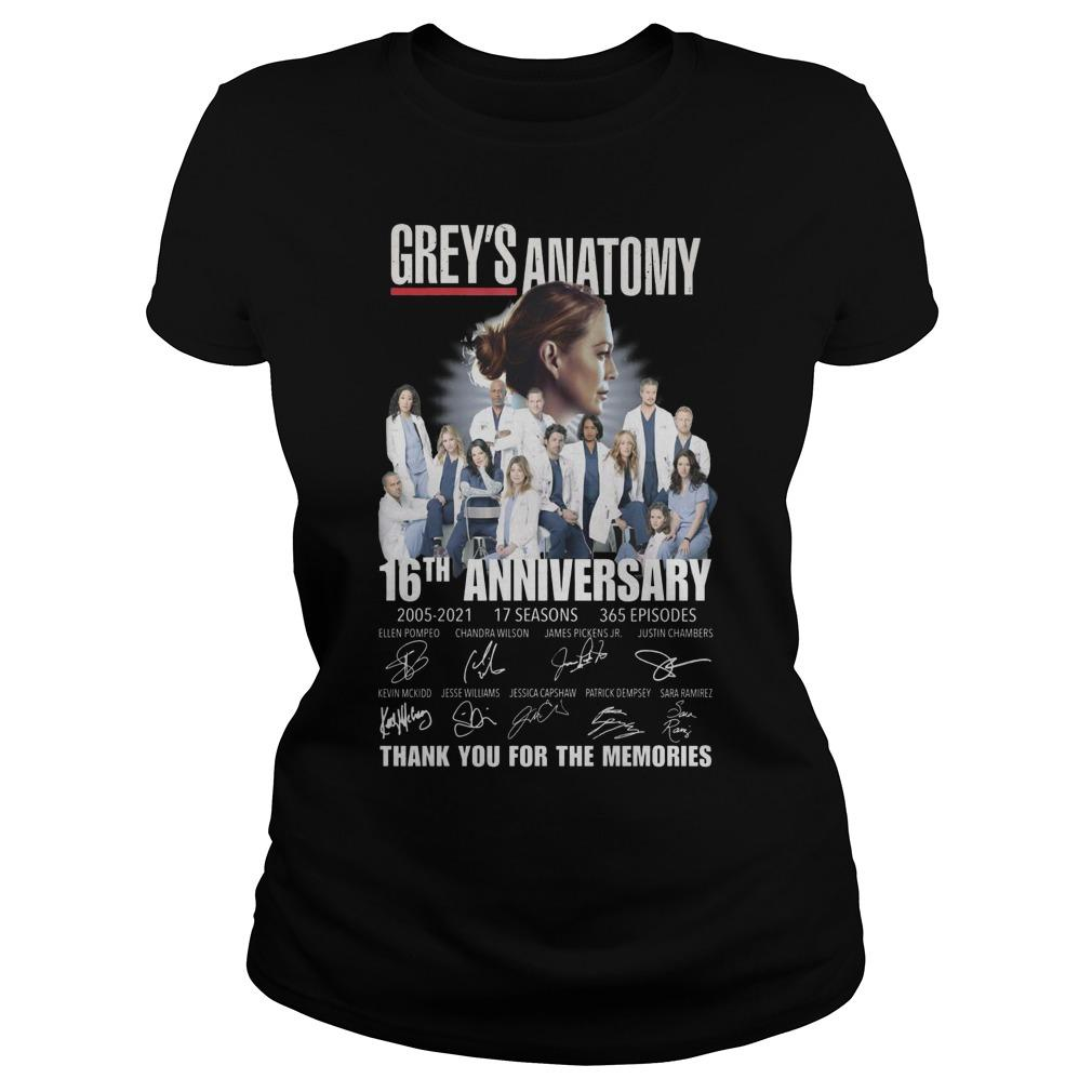 Grey's Anatomy 16th Anniversary Thank You For The Memories Longsleeve