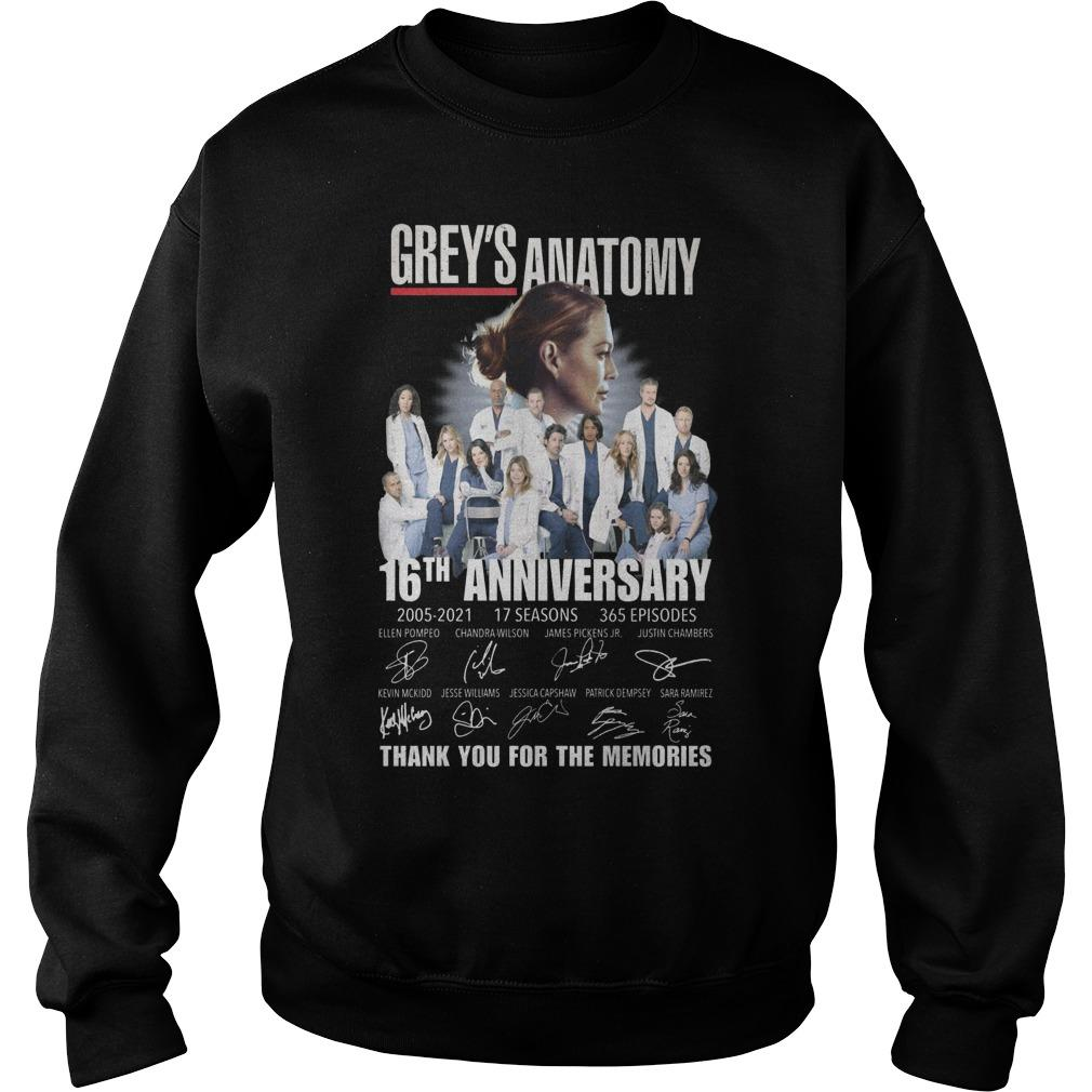 Grey's Anatomy 16th Anniversary Thank You For The Memories Sweater