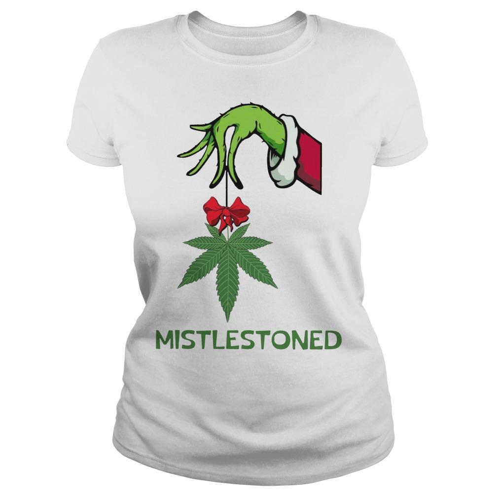 Grinch Weed Mistlestoned Longsleeve