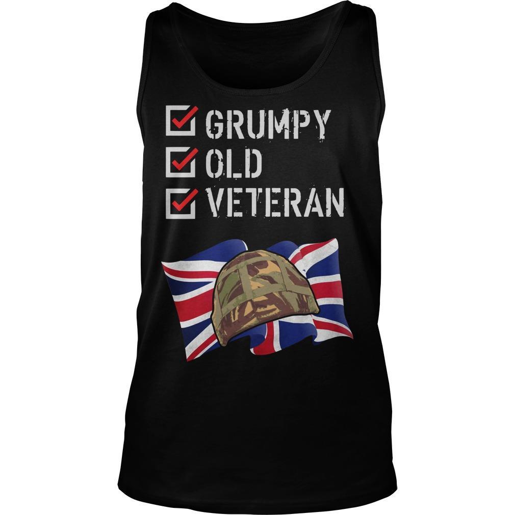 Grumpy Old Veteran Tank Top
