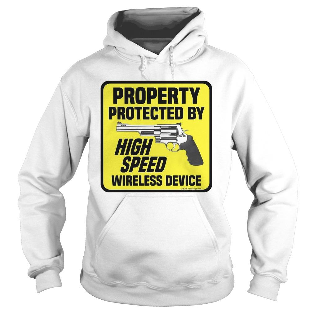 Gun Property Protected By High Speed Wireless Device Hoodie