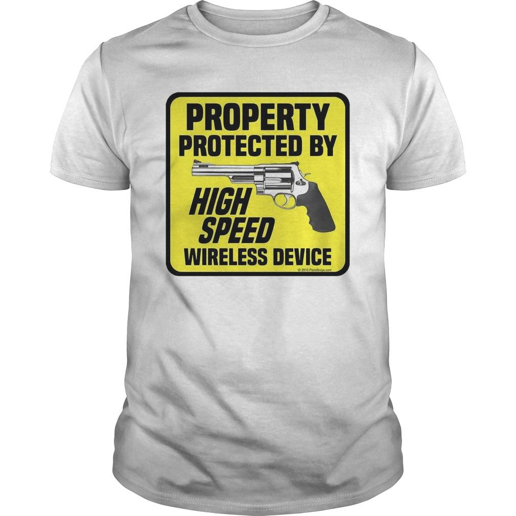 Gun Property Protected By High Speed Wireless Device Longsleeve