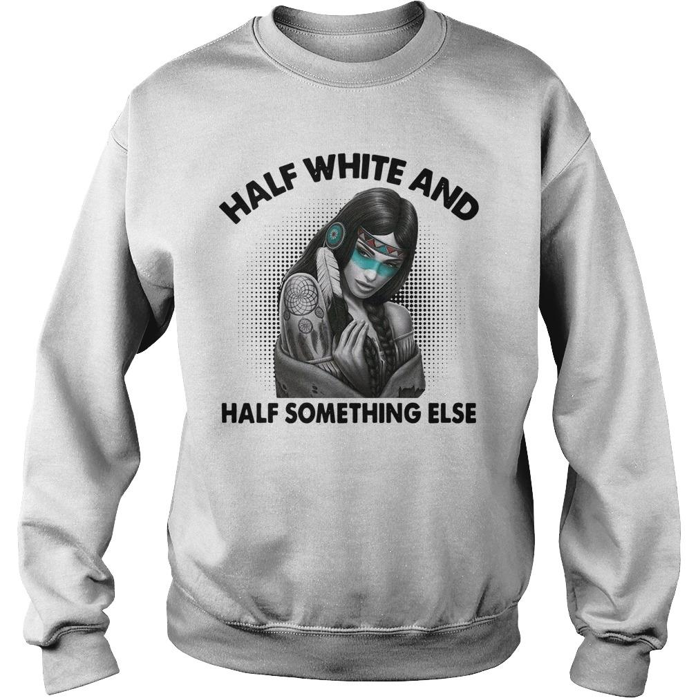 Half White And Half Something Else Sweater