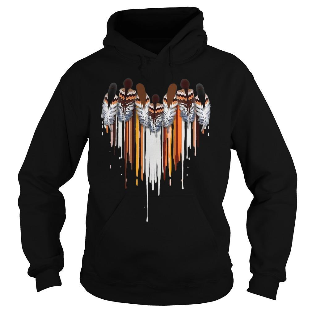 Heart Native American Feather Hoodie
