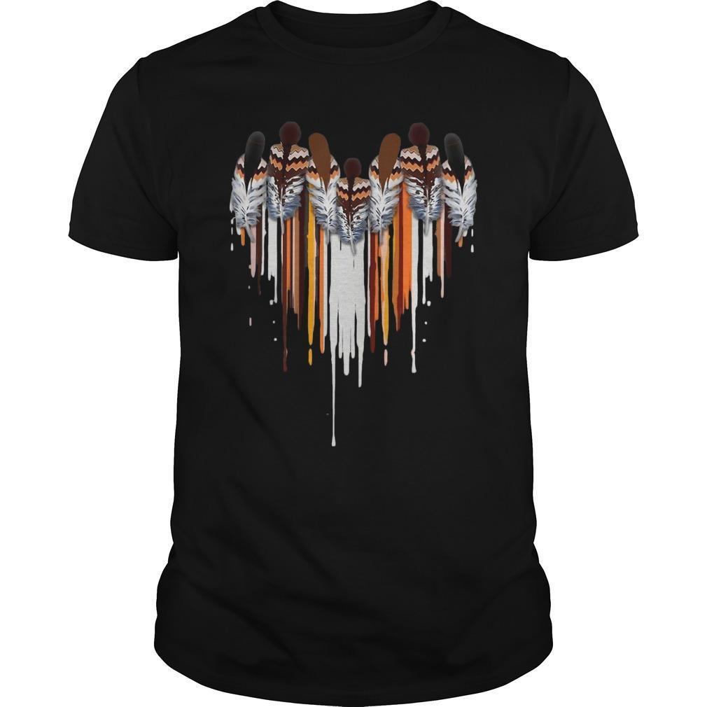 Heart Native American Feather Longsleeve