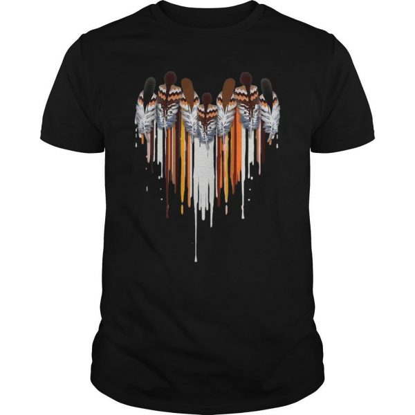 Heart Native American Feather Shirt