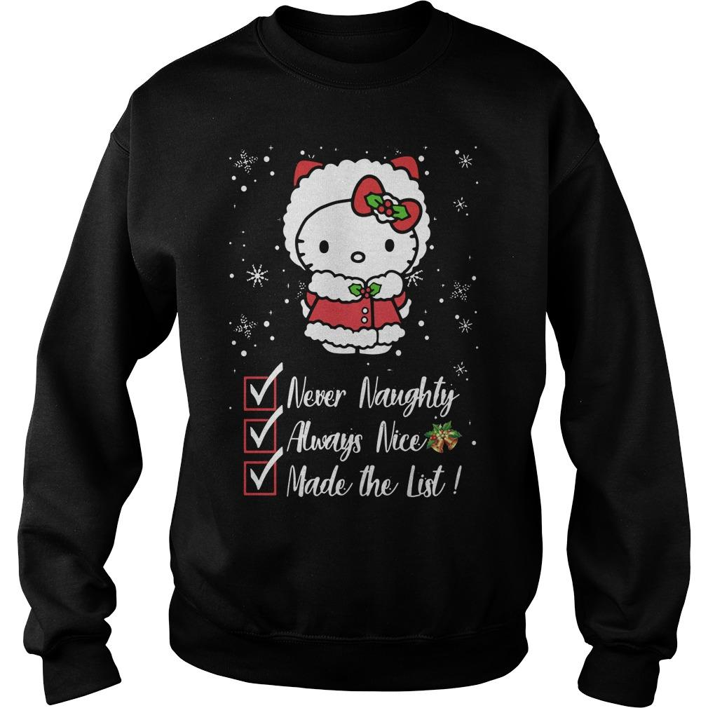 Hello Kitty Never Naughty Always Nice Made The List Sweater
