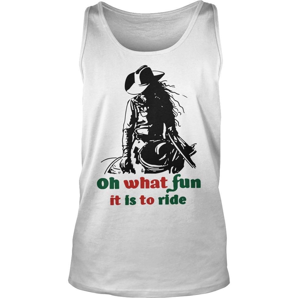 Horse Girl Oh What Fun It Is To Ride Tank Top