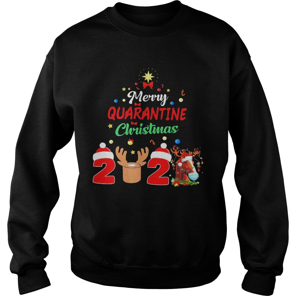 Horse Merry Quarantine Christmas 2020 Sweater