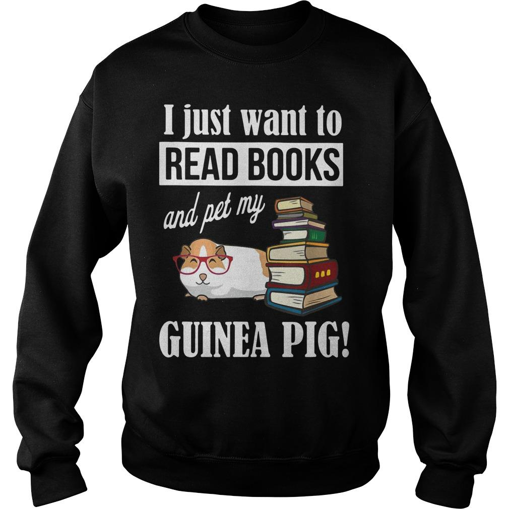 I Just Want To Read Books And Pet My Guinea Pig Sweater