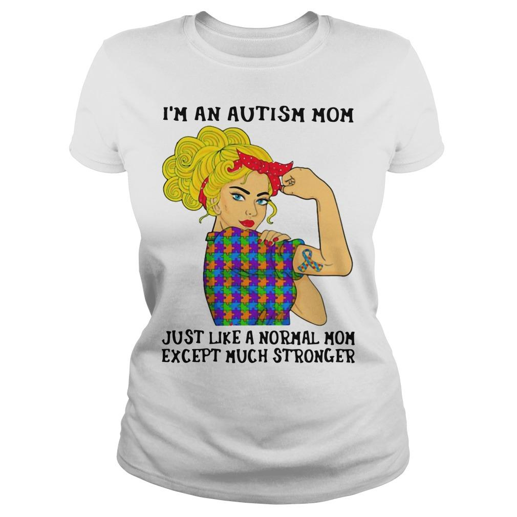 I'm An Autism Mom Just Like A Normal Mom Except Much Stronger Longsleeve