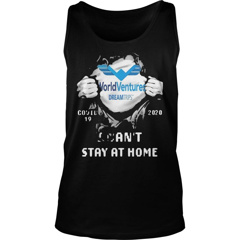 Inside Me World Ventures Covid 19 2020 I Can't Stay At Home Tank Top