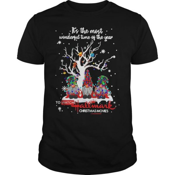 It's The Most Wonderful Time Of The Year To Watch Hallmark Christmas Movies Shirt