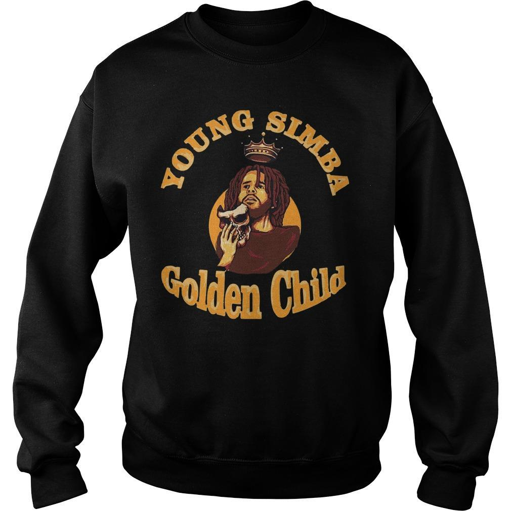 J Cole Young Simba Golden Child Sweater