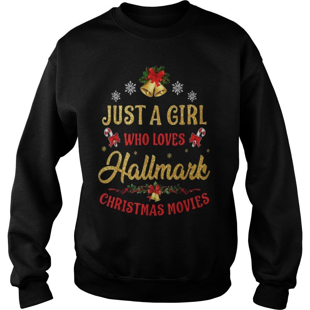 Just A Girl Who Loves Hallmark Christmas Movies Sweater