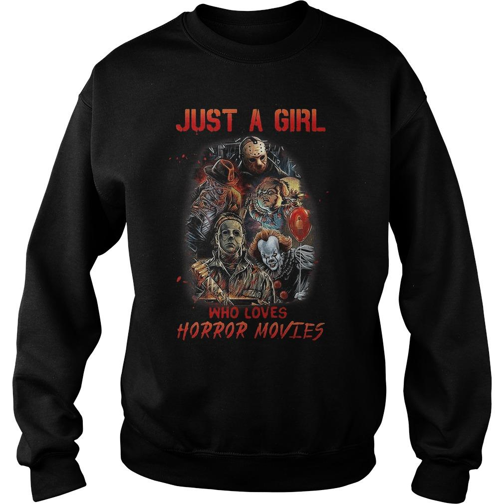 Just A Girl Who Loves Horror Movies Sweater