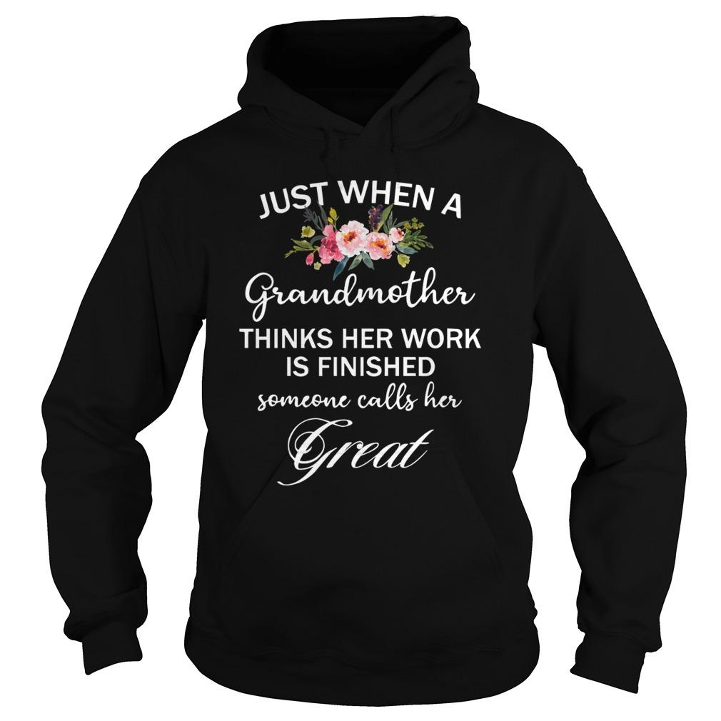 Just When A Grandmother Thinks Her Work Is Finished Hoodie