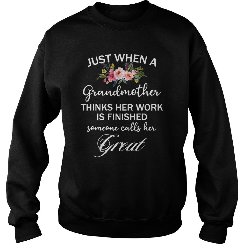 Just When A Grandmother Thinks Her Work Is Finished Sweater
