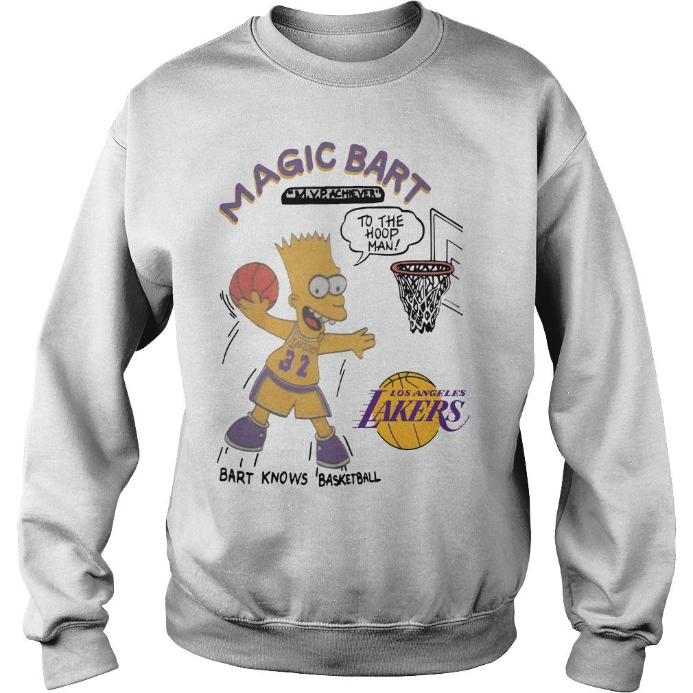 Lakers Magic T Bart Simpson Sweater